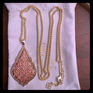 Kendra Scott Gold Aiden in Rose Gold Filigree New